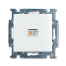 Выключатель одноклавишный с подсветкой ABB Basic 55, белый 1012-0-2153