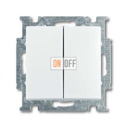 Выключатель двухклавишный ABB Basic 55, белый 1012-0-2141