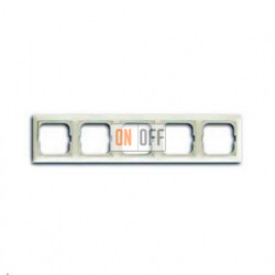 Рамка пятиместная ABB Basic 55, цвет шале-белый 1725-0-1515