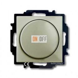 Светорегулятор Busch-Dimmer 60-400 Вт проходной ABB Basic 55, шампань 6515-0-0845