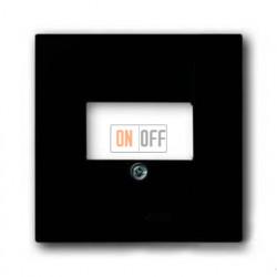 Розетка акустическая ABB Basic 55, шато-черный, цвет механизма черный 0230-0-0404 - 1724-0-4315
