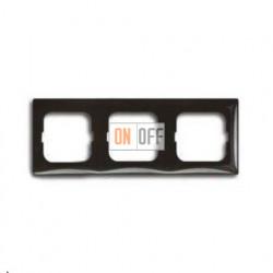 Рамка трехместная ABB Basic 55, цвет шато-черный 1725-0-1508