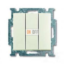Выключатель трехклавишный ABB Basic 55, шале-белый 1012-0-2183