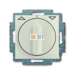 Выключатель жалюзи с поворотной ручкой с фиксацией, шале-белый 1101-0-0930