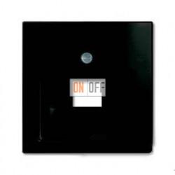 Розетка компьютерная Jung RJ-45 выход кат.6 с лицевой панелью ABB Basic 55, шато-черный UAE8UPOK6 - 1753-0-0207