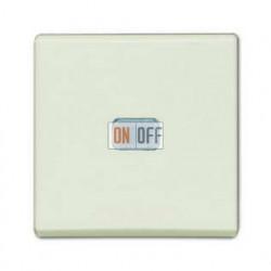 Выключатель одноклавишный с подсветкой ABB Basic 55, шале-белый 1012-0-2185