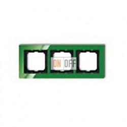 Рамка тройная ABB Busch-axcent зеленый глянцевый 1754-0-4339