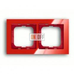 Рамка двойная ABB Busch-axcent красный глянцевый 1754-0-4341