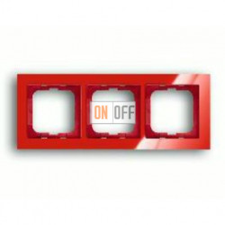 Рамка тройная ABB Busch-axcent красный глянцевый 1754-0-4342