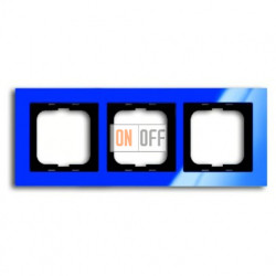 Рамка тройная ABB Busch-axcent синий глянцевый 1754-0-4345
