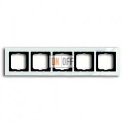 Рамка пятерная ABB Busch-axcent белый глянцевый 1754-0-4347