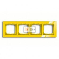 Рамка четверная ABB Busch-axcent желтый глянцевый 1754-0-4348