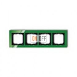 Рамка четверная ABB Busch-axcent зеленый глянцевый 1754-0-4350