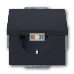 Розетка электрическая ABB с крышкой (антрацит) 2018-0-1486
