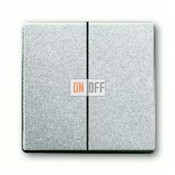 Выключатель двухклавишный, проходной (вкл/выкл с 2-х мест) 10 А / 250 В~ 1011-0-0928 - 1751-0-3092