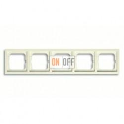Рамка пятерная, для горизонтального/вертикального монтажа ABB Future Linear кремовый глянцевый 1754-0-4234