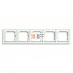Рамка пятерная, для горизонтального/вертикального монтажа ABB Future Linear белый глянцевый 1754-0-4517