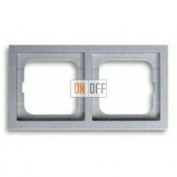 Рамка двойная, для горизонтального/вертикального монтажа ABB Future Linear серебристо-алюминиевый 1754-0-4530