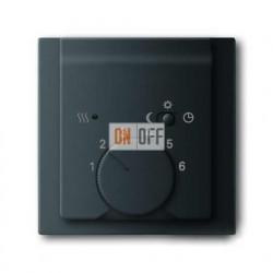 Терморегулятор теплого пола, с датчиком, 16А/250 В, ABB Impuls черный бархат 1032-0-0498 - 1710-0-3919