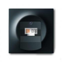 Розетка телефонная одинарная RJ11, ABB Impuls черный бархат 0230-0-0378 - 1753-0-0162