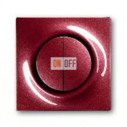 Выключатель двухклавишный с подсветкой, проходной ( вкл/выкл с 2-х мест),10 А / 250 В~ 1012-0-1671 - 1753-0-0105