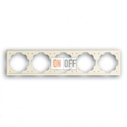 Рамка пятерная ABB Impuls кремовый глянцевый 1754-0-4316