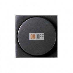 Светорегулятор с поворотной кнопкой 60-500Вт ZENIT (антрацит) N2260.2 AN
