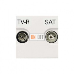 Розетка TV-R/SAT оконечная ZENIT (Белый) N2251.7 BL