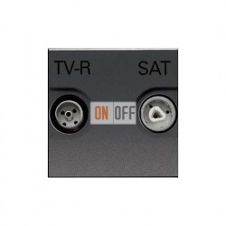 Розетка TV-R/SAT оконечная ZENIT (антрацит) N2251.7 AN