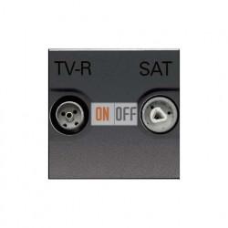 Розетка TV-R/SAT проходная ZENIT (антрацит) N2251.8 AN