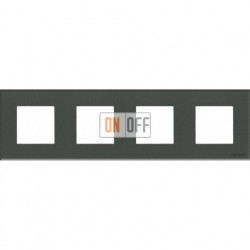 Рамка 4 поста по 2 модуля ABB Zenit, немецкий стандарт (стекло графит) N2274 CF - N2271.9 - N2271.9 - N2271.9 - N2271.9