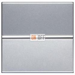 Выключатель одноклавишный 16А ABB ZENIT (серебристый) N2201 PL