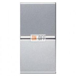 Переключатель одноклавишный ABB ZENIT (узкая клавиша, 1 модуль) 16А ABB ZENIT (серебристый) N2102 PL
