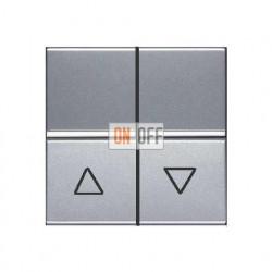 Выключатель жалюзи с фиксацией 16А ABB ZENIT (серебристый) N2244.1 PL