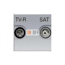 Розетка TV-R/SAT проходная ZENIT (серебристый) N2251.8 PL