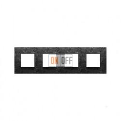 Рамка 4 поста по 2 модуля ABB Zenit, немецкий стандарт (сланец) N2274 PZ - N2271.9 - N2271.9 - N2271.9 - N2271.9