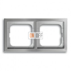 Рамка двойная ABB Pure нержавеющая сталь 1754-0-4501