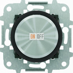 Светорегулятор универсальный поворотный 60 - 500 Вт, ABB Skymoon, черное стекло 8660 CN