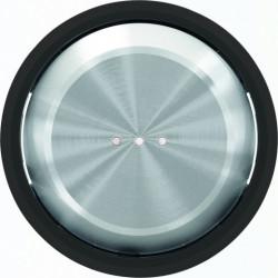 Выключатель одноклавишный с подсветкой ABB Skymoon, 10 А, черное стекло 8101 - 6192 BL - 8601.3 CN
