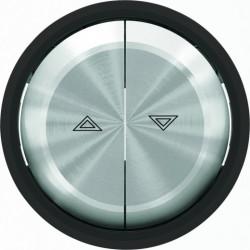 Выключатель управления жалюзи кнопочный ABB Skymoon, черное стекло 8144 - 8644 CN
