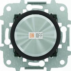 Светорегулятор поворотно-нажимной для LED (светодиодный), 4-100 Вт/ВА ABB Skymoon, черное стекло 8660.2 CN