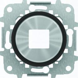Usb розетка двойная ABB Skymoon, черное стекло 8185 - 8685 CN