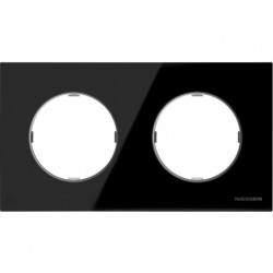 Рамка двойная ABB Skymoon, черное стекло 8672 CN