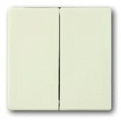 Выключатель двухклавишный ABB (слоновая кость) 1012-0-2108 - 1751-0-2744