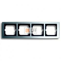 Рамка четверная ABB Solo матовый хром 1754-0-4107