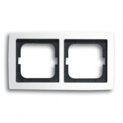Рамка двойная ABB Solo белый глянцевый 1754-0-4539