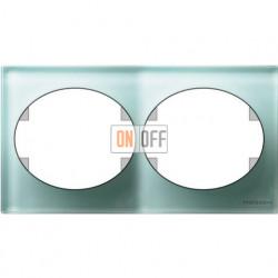 Рамка двухместная горизонтальная Tacto (стекло лазурь) 5572.1 CG