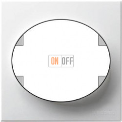 Рамка одноместная ABB Tacto (белая) 5571 BL