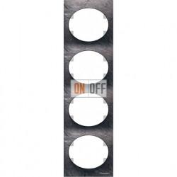 Рамка четырехместная вертикальная ABB Tacto (сланец) 5574 PZ