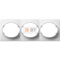 Рамка трехместная горизонтальная ABB Tacto (белая) 5573.1 BL